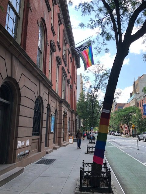 Entrance to the NYC LGBT Center on 13th St