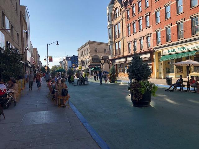Pedestrian area of Jersey City