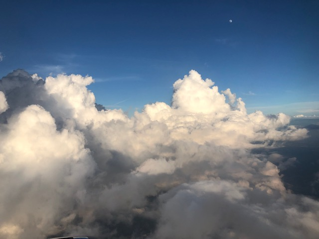 Very fluffy clouds from the plane