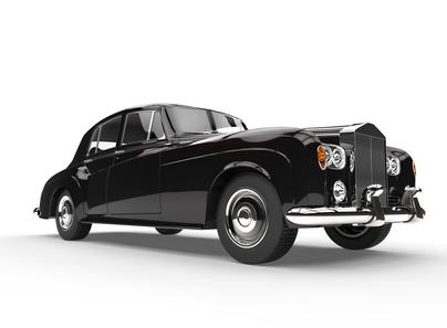 Black Elegant Vintage Car