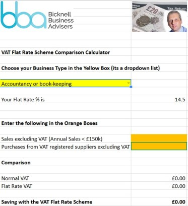 Flat Rate Calculator 2