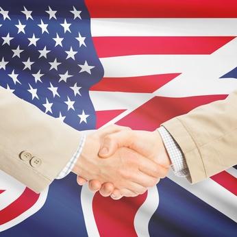 Businessmen handshake - United States and United Kingdom