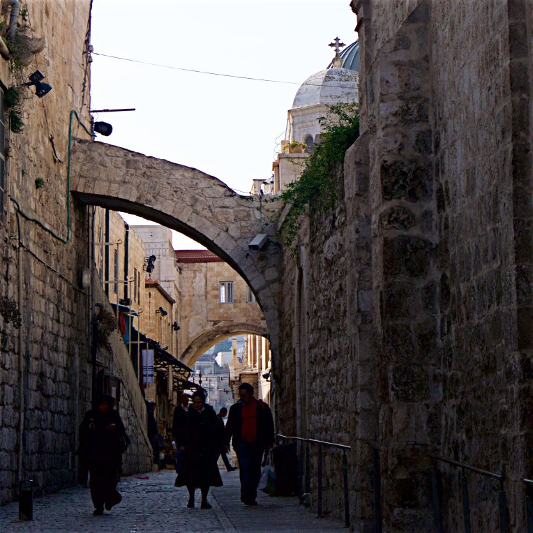 Via Dolorosa and the Ecce Home arch beneath the Church of the Holy Sepulchre