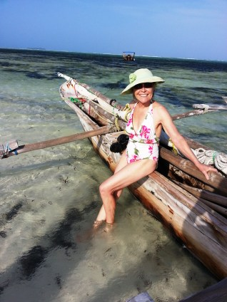 Beauty on the beach with dugout outrigger
