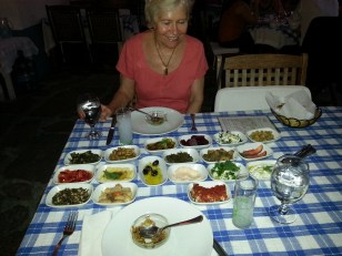 I thought this was the entire dinner at Giritli Restaurant in Istanbul. Just starters. Recommend.