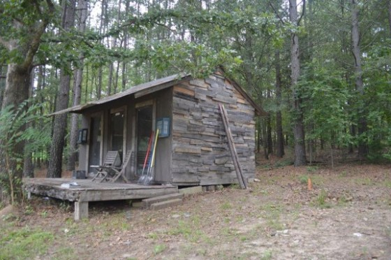 Original log cabin on the Serenbe AIR property.