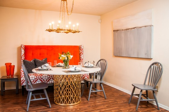 Dining area after - a perfect place for the family to gather, kids to do homework and for everyone to make some special memories!