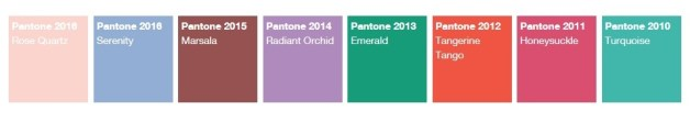 pantone annual colors