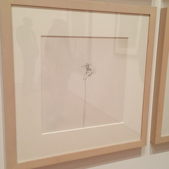 Although this appears to be a line drawing, it's actually a work created using a single piece of wire. By Vik Muniz