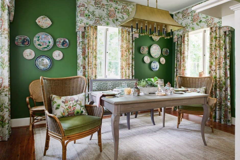 A Tropical Transformation McKenzie Designs 2017 Historic Macon Showhouse Dining Room
