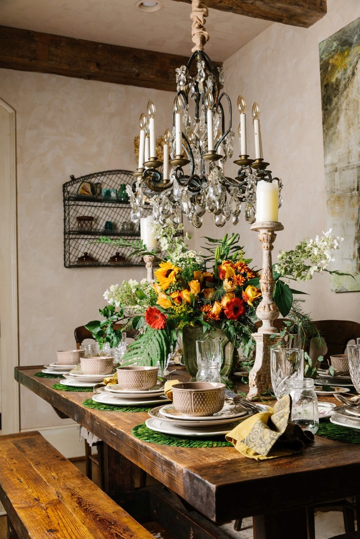 We then turned to Lisau0027s gorgeous open shelves abundant with dishes glasses serving pieces and more u2013 this is when the fun really began! & autumn table setting Archives |