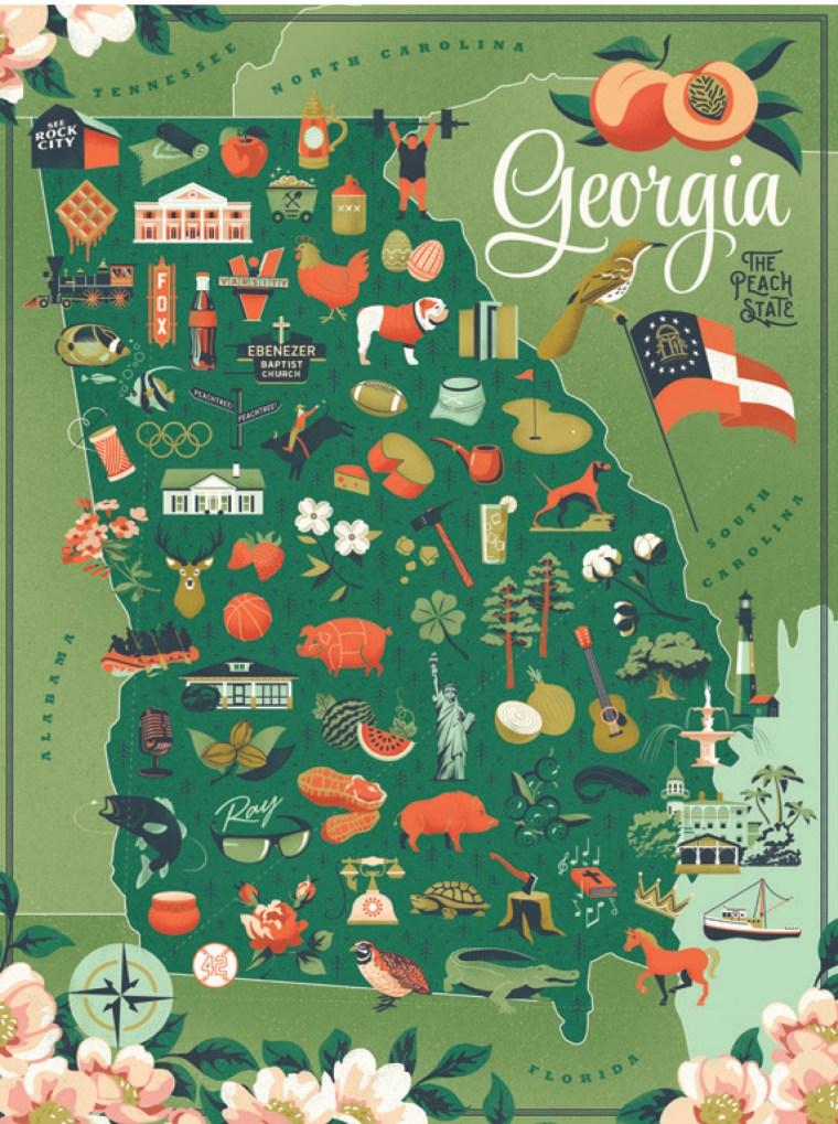 Atlanta, state, puzzle, game,