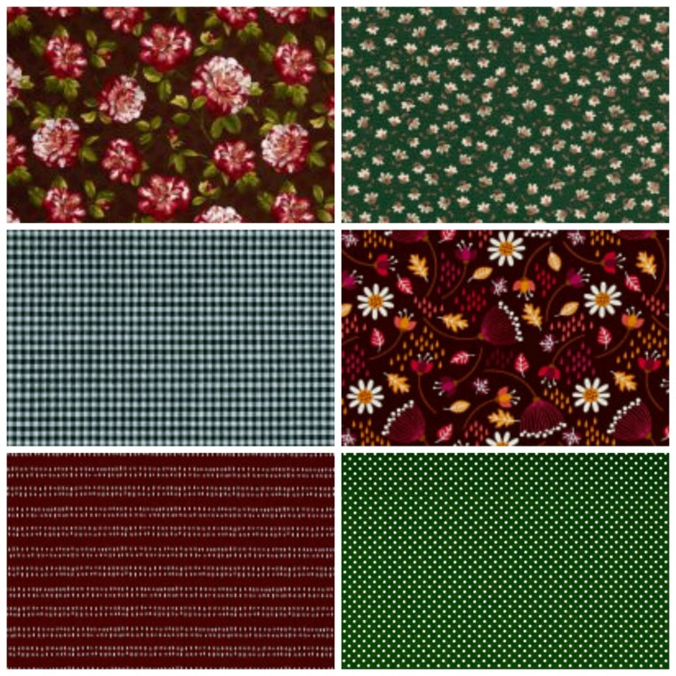 napkin, custom, floral, green, burgundy