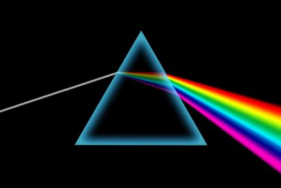 The Prism illustrates the Holy dividing into the resources of life