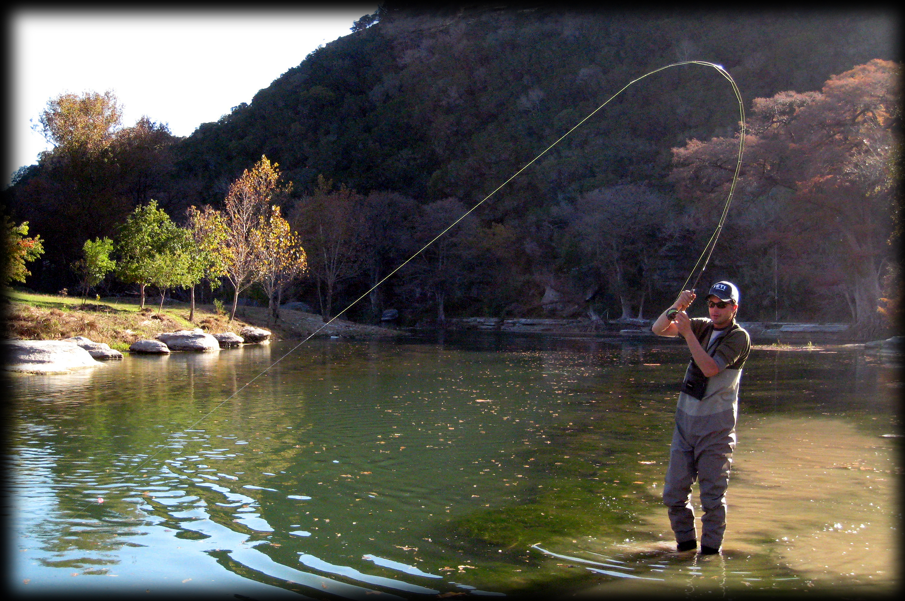 Guadalupe river trout fishing report 11 28 09 for Trout fishing in texas