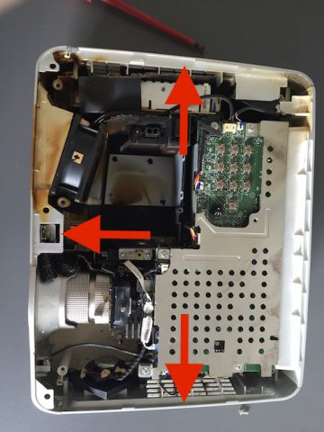 how to unscrew noma fan to clean dust