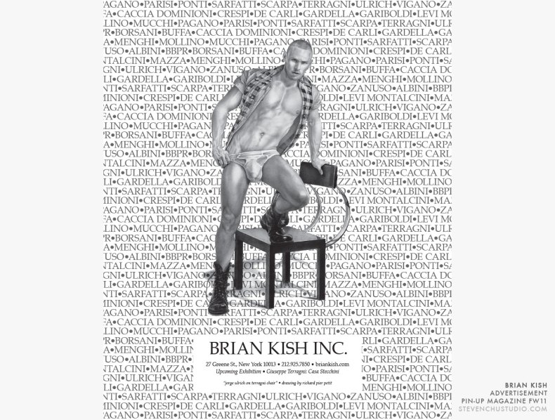 Brian Kish - Pin-Up Magazine Advertisement - Jorge Ulrich