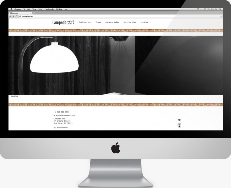 Lampedo - Italian Design Dealer - New York - Landing Page