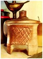 Michael Simon - coffee bean jar; 1999, BCW; Oil Lamp - Nepal