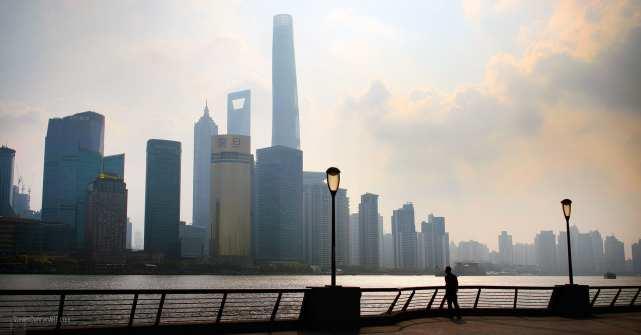 A man on Shanghai's Bund