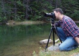 Steven Duncan Using a Camera