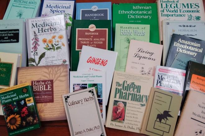 A selection of Jim Duke's many books