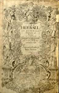 Gerarde's Herball 1597 title page