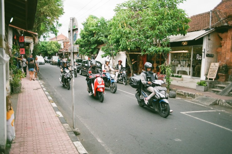 Analogue photo of Jalan Hanoman in Ubud
