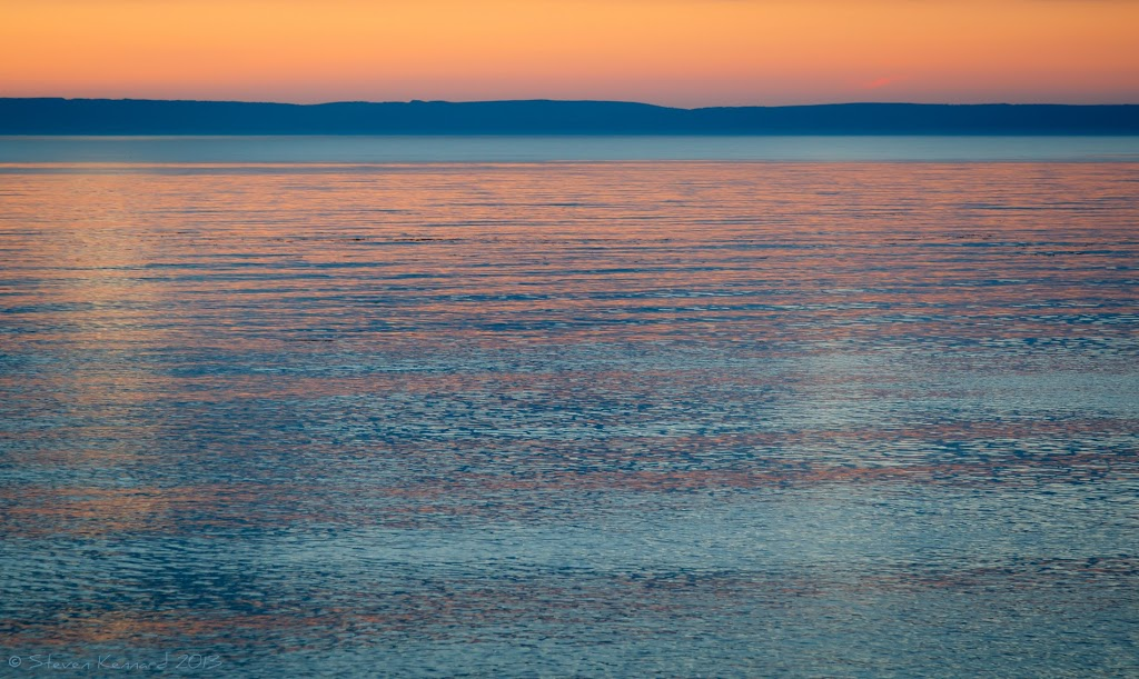 Sunset over the bay of Fundy - Steven Kennard 2015