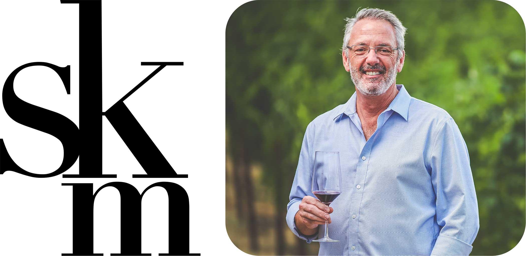 SKM Logo with Steven Kent Mirassou Headshot