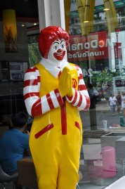 "Ronald says ""Sawadee Krup"". You can't go wrong knowing this as your first Thai greeting phrase."