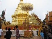 The most holy area of the temple grounds is this chedi.