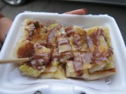 My roti with egg, banana and Nutella. It doesn't get any better than this.... until I visit the next street vendor.