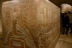 An elaborate Egyptian Sarcophagus.