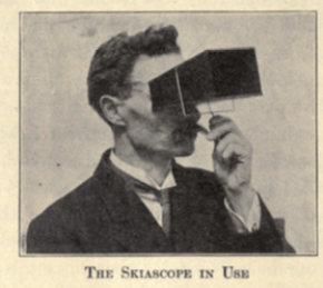 gilman, skiascope in use