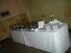 Buffet Set Up.