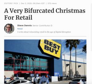 A Very Bifurcated Christmas For Retail