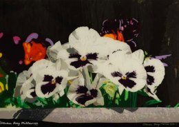 First Day of Spring original 3-D acrylic painting on glass by Steven Ray Miller Durham NC artist