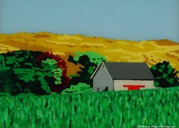 Middle Road Chilmark Marthas Vineyard original 3-D acrylic painting on glass by Steven Ray Miller Durham NC artist