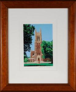 Duke Chapel Framed Mini Print