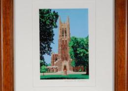 Duke Chapel Framed Mini Print