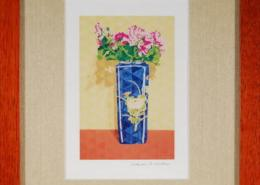Oriental Floral Framed Mini Print