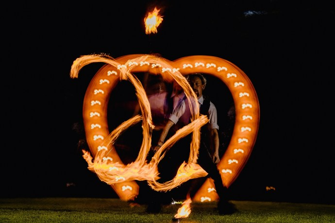 flame throwers, fire eaters