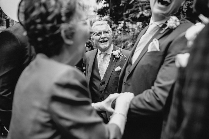 smiling, laughter, handshake, father of the groom