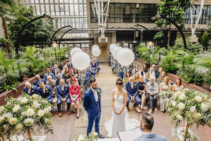barbican conservatory wedding photography