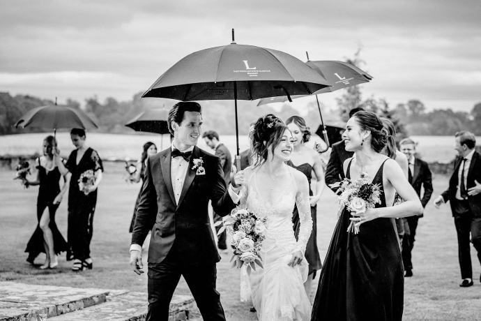 umbrellas, boquet, irish weather