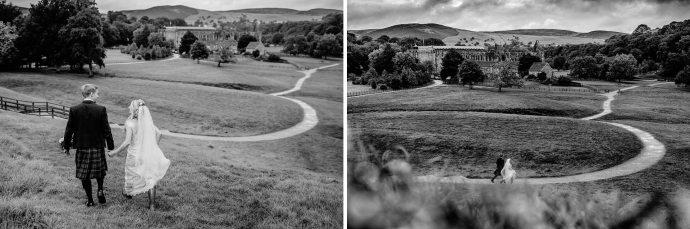 river wharfe, wedding portraits, wellies, landscape, rolling hills, bolton abbey,