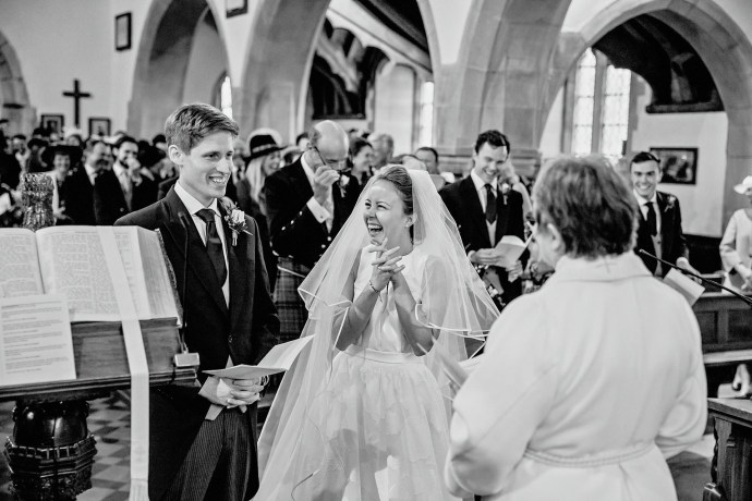 wedding ceremony, marriage in the church in north wales
