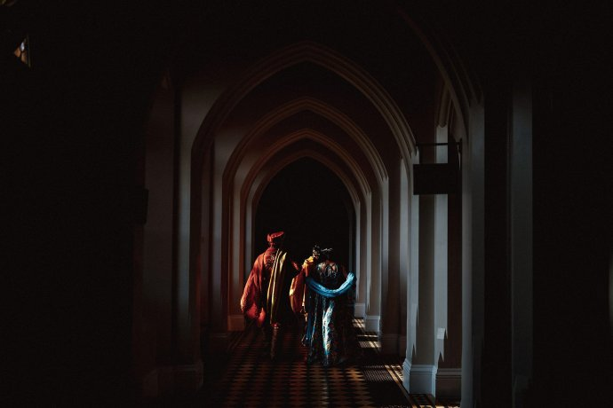 nice light in the corridors of the abbey