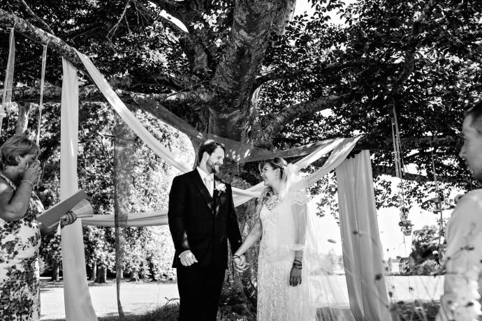 humanist wedding by the tree